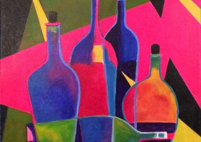 Abstract Wine Bottles